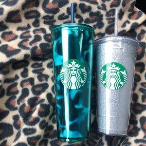 Starbucks Other - Set Starbucks Tortoise and Glitter Tumblers 2020